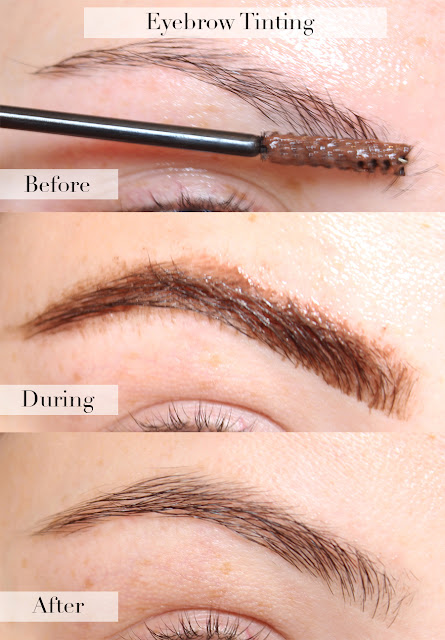 At Home Eyebrow Tinting With Eylure Dybrow In Dark Brown