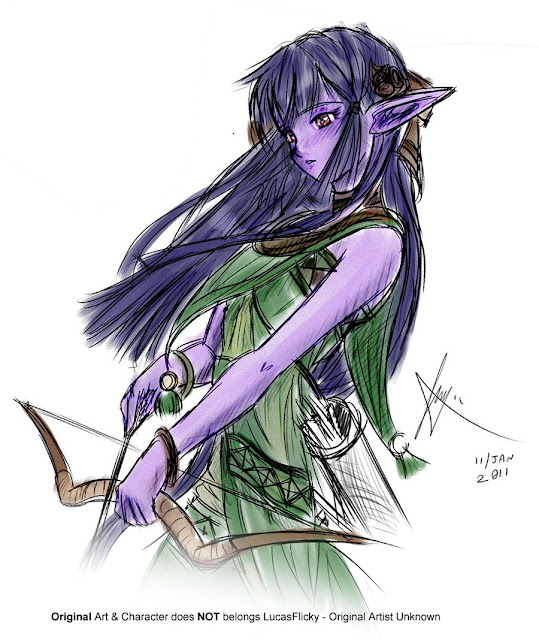 Night Elf Adaptation por LucasFlicky