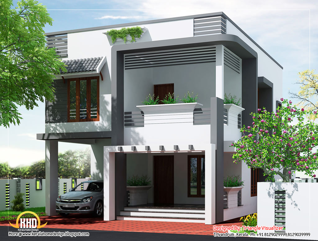 Budget home design plan 2011 sq ft kerala home Modern 2 storey house
