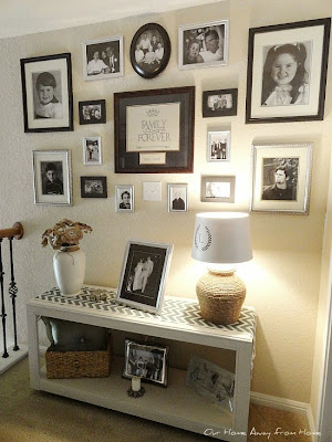 family wall gallery makeover
