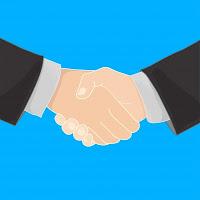 jabat tangan tanda kerjasama