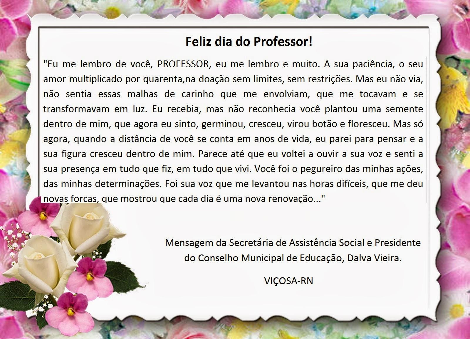 Muito VIÇOSA CLICK : Mensagem aos Professores. NB53