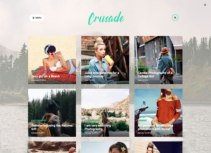 Photography Blogger Template