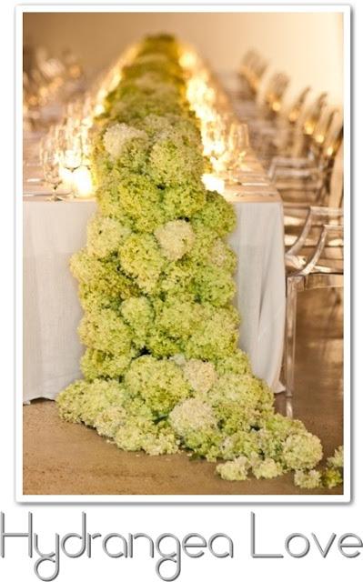dukning med hortensia, hortensia, lyxig bordsdukning bröllop
