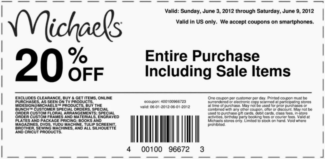 Printable coupons michaels coupons for Coupons michaels arts and crafts