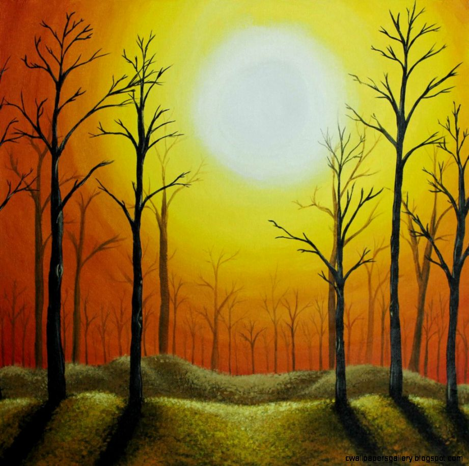 Sunset Forest by Niginie on DeviantArt