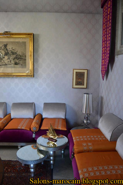 Salon Grenat Moderne : Boutique salon marocain