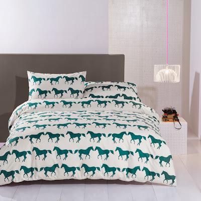 Anorak Bedding | Kissing Horses | Double Duvet Cover Set