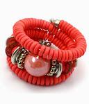 Coral Spiral Bracelet