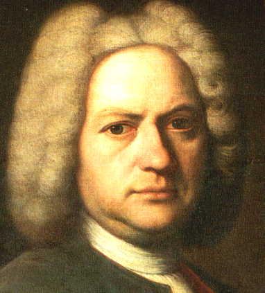 Retrato de Bach para experimentos com masks.