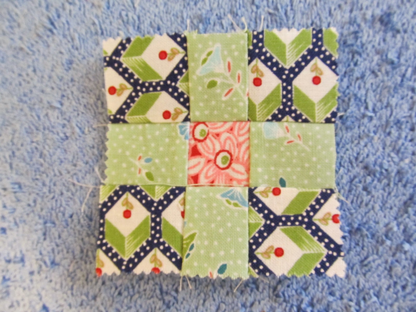 making a nine patch quilt block