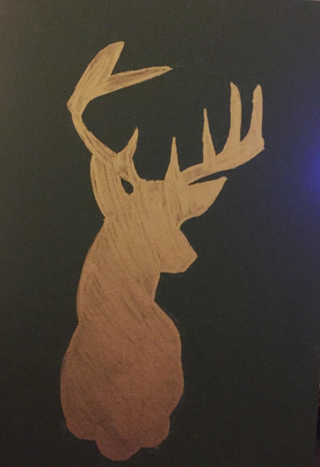 Glittered Reindeer Wall Art