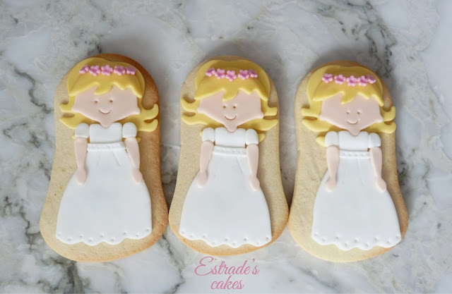galletas de niña de Comunión rubia 1