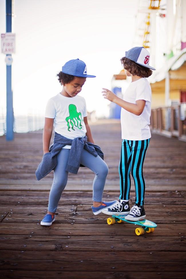 Loola Baby vertical striped leggings - boys skate style