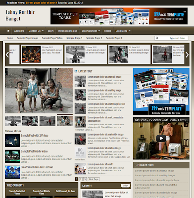 johny kenthir banget magazine blogger template