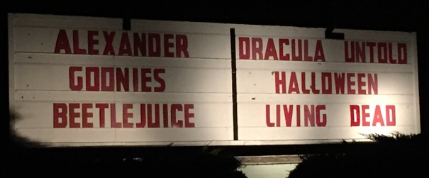 Marquee at The Family Drive-In in Stephens City VA