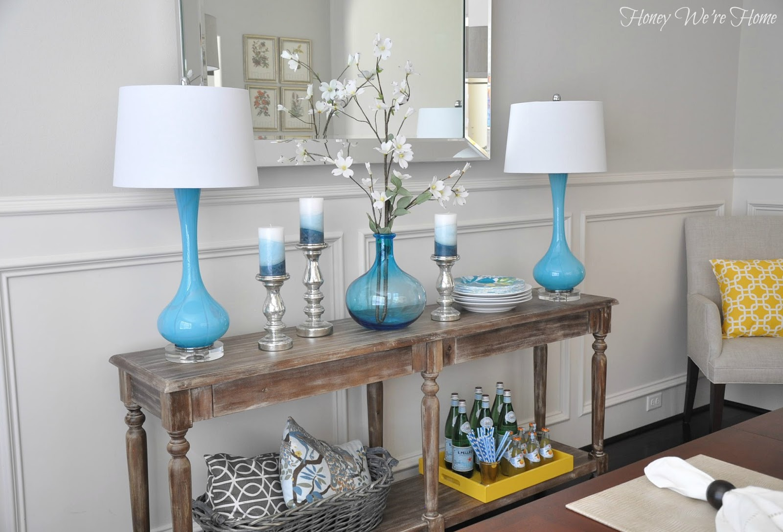 Dining Room Decor Updates // World Market Everett Foyer Table