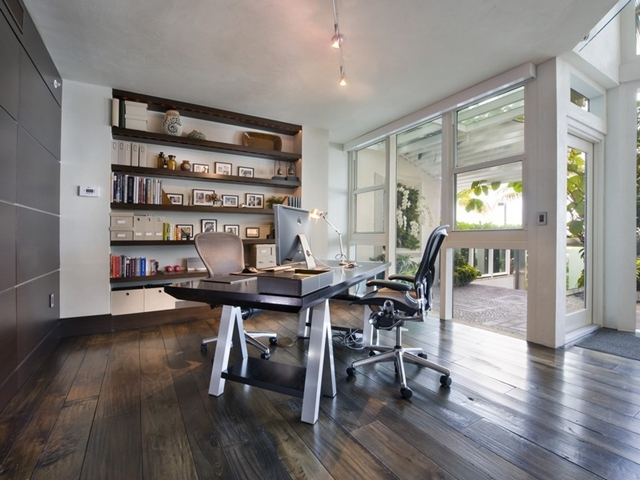 Modern home office at South Pointe Modern Apartment, Miami Beach, Florida