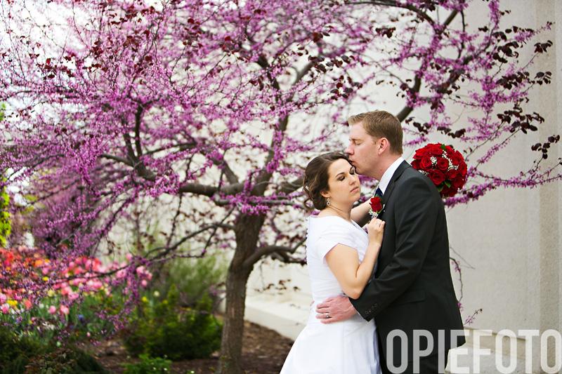 Jordan River Temple Wedding Photo