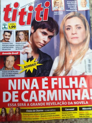 Capa revista ti ti ti - Revelao em Avenida Brasil: Nina  Homem - Verdade ou mentira