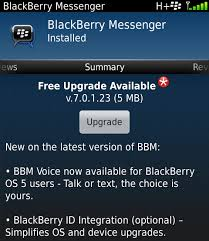 BlackBerry Messenger 7.0.1.23
