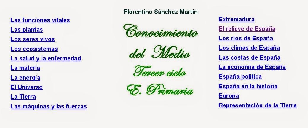 CONOCIMIENTO DEL MEDIO TERCER CICLO DE EDUCACIÓN PRIMARIA
