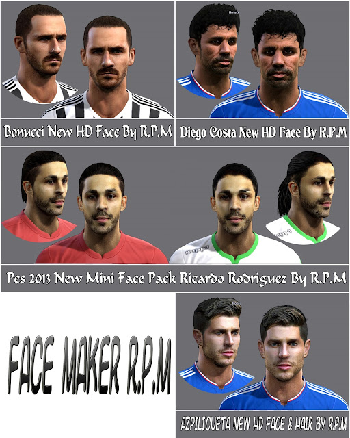 http://pespatchmod.blogspot.com/2015/10/pes-2013-facepack-by-rpm.html