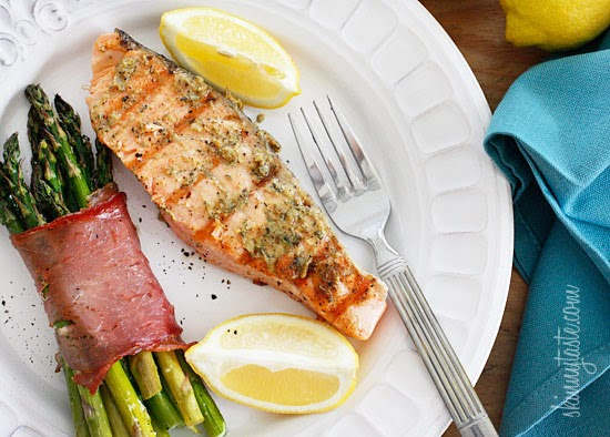 Grilled Garlic Dijon Herb Salmon ~ Fit Club United