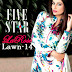 Five Star LaRose Lawn Collection 2014 | Floral Printed La-Rose Lawn by Five Star