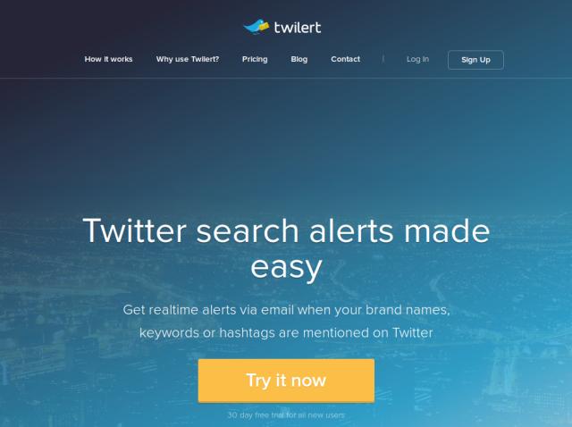 Twilert - alertas do twitter para empreendedores e marqueteiros