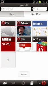Opera Mini Apk Browser screenshot