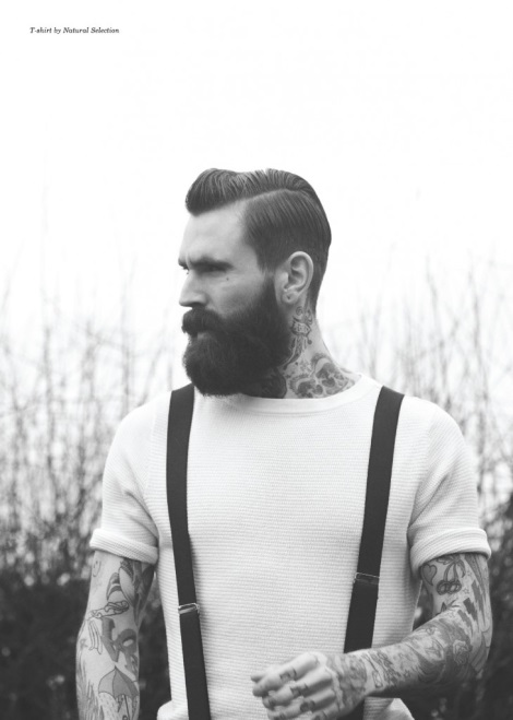 Ricki Hall Beard and Tattoos Portrait
