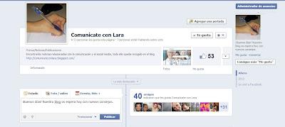 Página de Comunícate con Lara