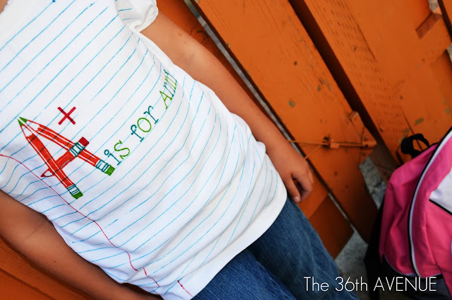Back to school t-shirts plus 10 of the best DIY back to School ideas. Awesome ways to stay organized and get ready for back to school. the36thavenue.com