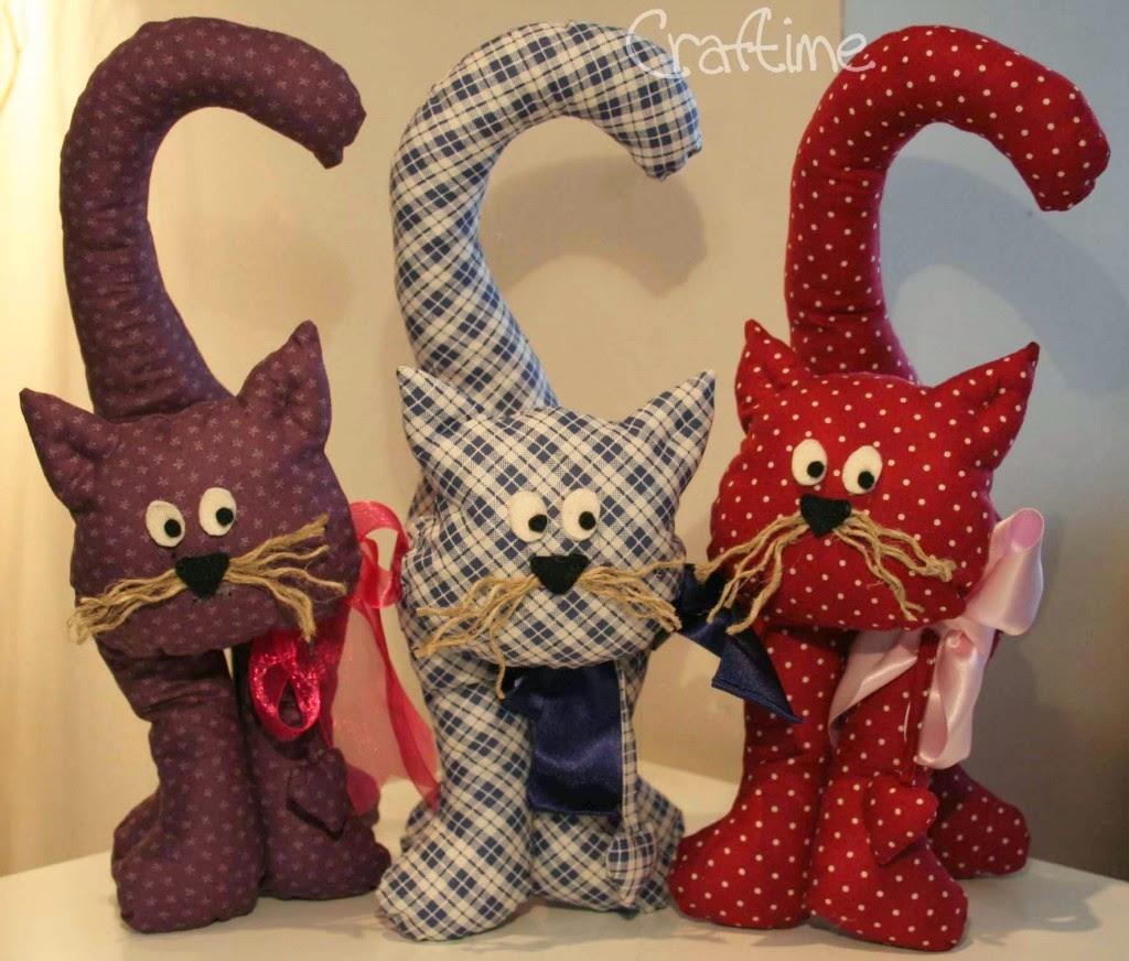 Текстильный кот своими руками