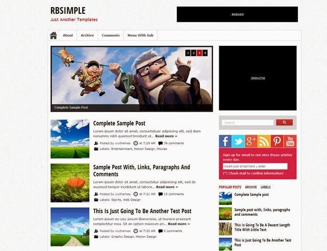 RBSimple Free Download Blogger Template