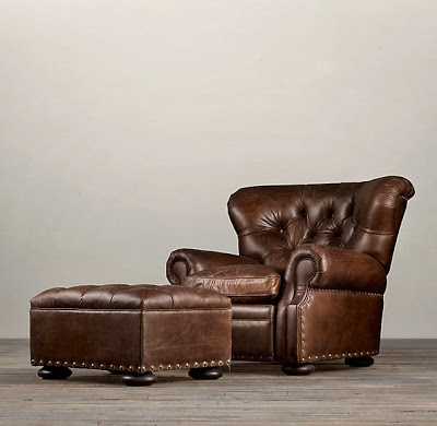 Copy cat chic restoration hardware churchill leather for Restoration hardware churchill sofa