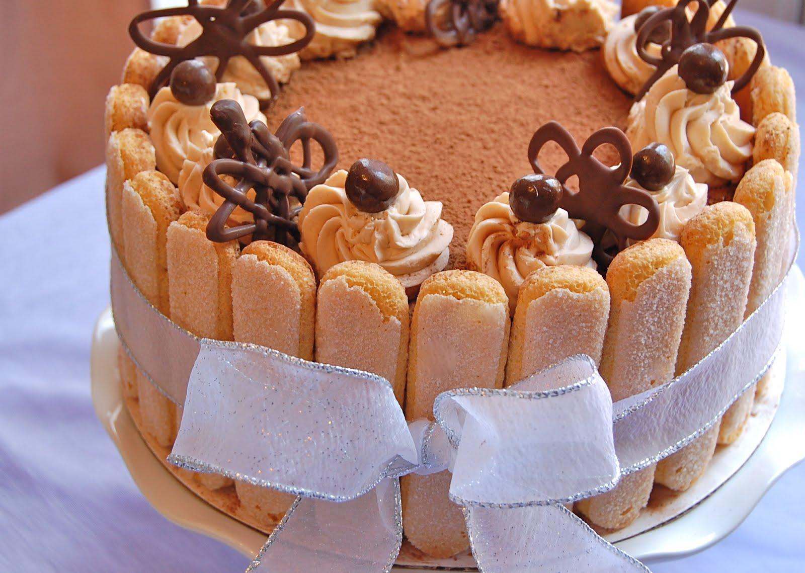 Tiramisu Birthday Cake Decoration