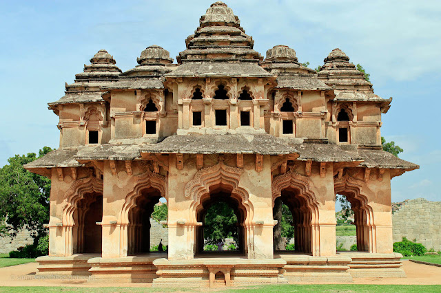 The Iconic Lotus Mahal of Hampi
