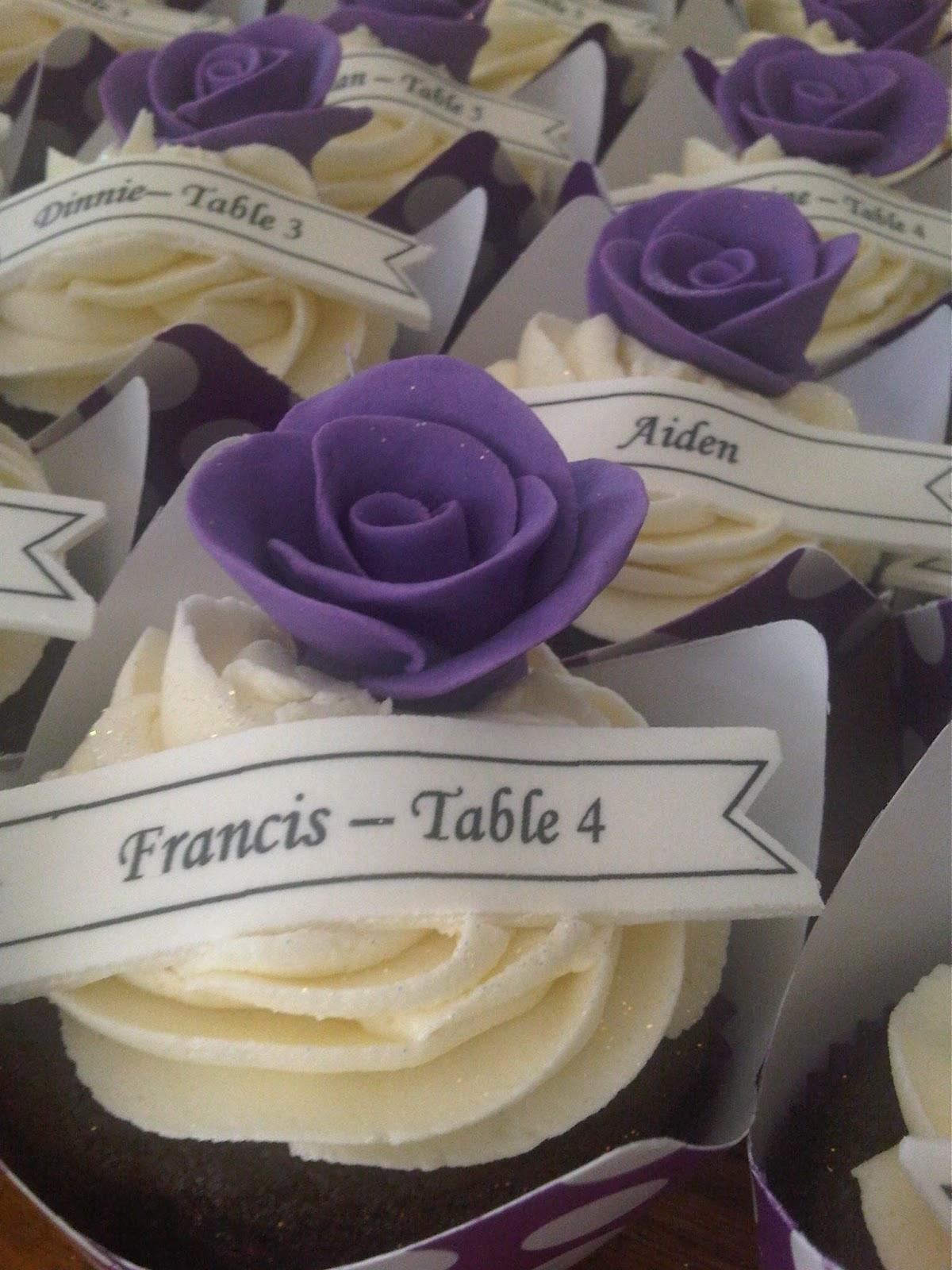 Purple Rose Wedding Cupcakes Wedding cupcakes - purple rose