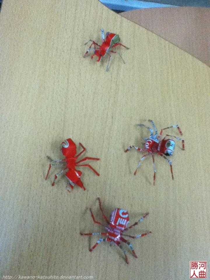 かつハウス: Pequeñas obras de arte con papel y aluminio - 折り紙と ...