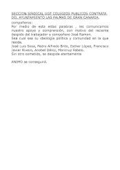 Mensaje de apoyo a José Ramón, despedido por Setex Aparki en Jerez de la Frontera, emitido por la S