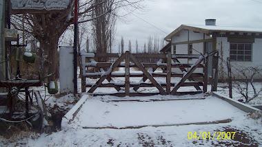 Frente del lugar, en invierno