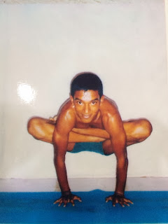 Ajay Kumar Practicing Ashtanga Yoga in Mysore