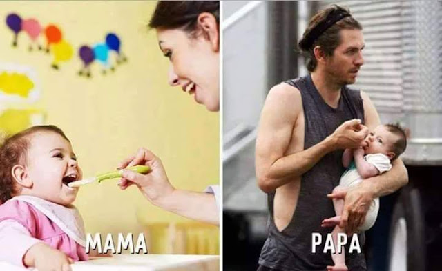 Mom vs dad funny pics