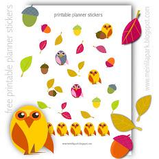 FREE printable autumn stickers: