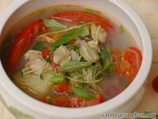 Cách làm canh ngao nấu chua đưa cơm ngày nắng12