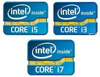 Core i3, i5, i7
