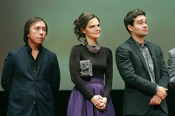 Lisa Boyars and Pyotr Fyodorov at the premiere of _The Runaways