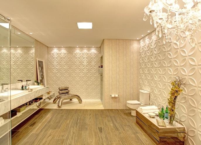 Arquitetura e Decoração  Paredes com revestimentos diferent -> Banheiro Feminino Tumblr
